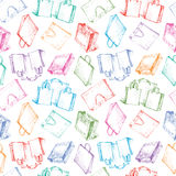 Pattern with a shopping bags Royalty Free Stock Image