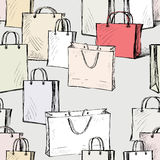 Pattern of the shopping bags Royalty Free Stock Photos