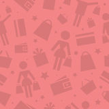 Pattern shopping store icons Royalty Free Stock Photos