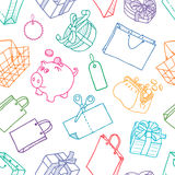 Pattern of shopping Stock Photography