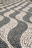 The pattern on the sidewalk Stock Images