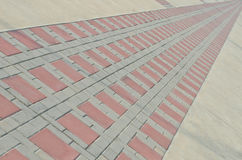 Pattern of sidewalks blocks. Royalty Free Stock Photography
