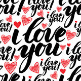 Pattern with sign LOVE Stock Photography
