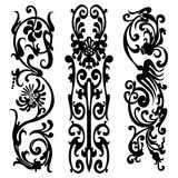 Pattern silhouette black design ornament motifs stock illustration