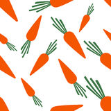 Pattern Silhouette Carrots Stock Image