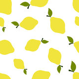 Pattern Silhouette Lemons Stock Photography