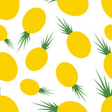 Pattern Silhouette Pineapples Stock Photos