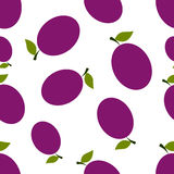 Pattern Silhouette Plums Royalty Free Stock Images