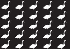 Pattern with a silhouette of a swan Stock Photos