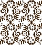Pattern. Silhouette of vintage ornament, seamless pattern Stock Photography