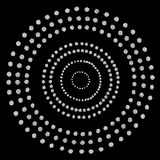 Pattern of silver circles Stock Photography