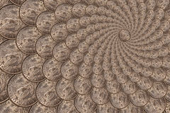 Pattern from a silver coins of a Morgan dollar Royalty Free Stock Photos