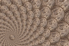 Pattern from a silver coins of a Morgan dollar Royalty Free Stock Image