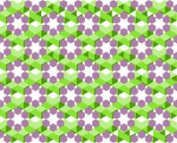 Geometric pattern of ultra violet and green color isolated on white background - Vector illustration, EPS10. The pattern is similar to flower blooming among Royalty Free Stock Photography