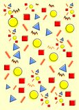 Pattern with simple design with bright color. Can be use for background with yellow purple red and orange stock images