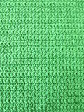 Pattern from single crotchet stitch in green Stock Photos