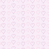 Pattern with sketched hearts Royalty Free Stock Photography
