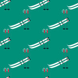 Pattern with ski poles Royalty Free Stock Photo