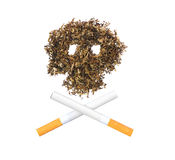 The pattern of the skull of tobacco Stock Photo