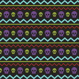 Pattern with skullies Stock Photo
