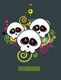 Pattern of skulls A Royalty Free Stock Image