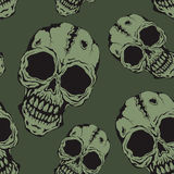 The pattern of skulls Stock Photos