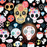 The pattern of skulls Royalty Free Stock Images