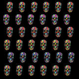 Pattern with skulls. On the black background Stock Image