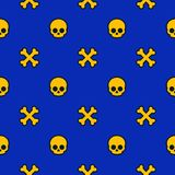 Pattern with skulls and bones, background. Pattern with skulls and bones, halloween background, eps 10 file, easy to edit vector illustration