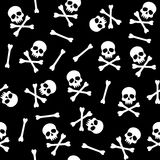 Pattern with skulls. Vector seamless pattern with skulls, Halloween background Royalty Free Stock Photo