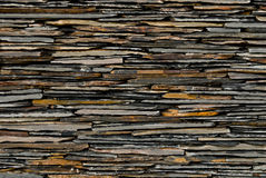 Pattern of Slate Stone wall Stock Photos