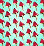 Pattern of slices of watermelon Stock Photos