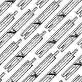 Pattern with slide rules Royalty Free Stock Images