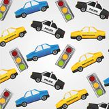 Pattern of small cars Stock Photography