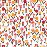 Pattern of small flowers. The pattern of small flowers. Pastel pattern of several types of small flowers. Light option Royalty Free Stock Photo