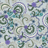 Pattern with small lilac flowers on a gray blue ba Royalty Free Stock Photos
