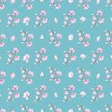 Pattern with small magnolias Royalty Free Stock Photography