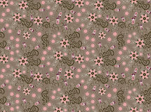 Pattern with small pink flowers Royalty Free Stock Image