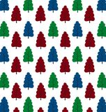 Pattern of small trees Royalty Free Stock Photo