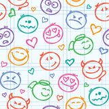 Pattern of smiles Royalty Free Stock Photos