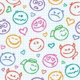 Pattern of smiles Royalty Free Stock Photos