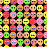 Pattern of smiles on black background Stock Image