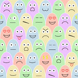 Pattern with smiles. Fair seamless pattern - smiles of various moods Royalty Free Stock Photo