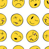 Pattern with smiley Royalty Free Stock Photography