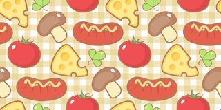 Pattern with snack. Royalty Free Stock Photography