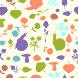 Pattern with snails Royalty Free Stock Photos