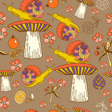 Pattern with snails Stock Photos