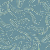 Pattern with sneakers Stock Image