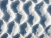 Pattern in the Snow. Interesting abstract pattern created from a footprint in snow by the tread of a snow boot royalty free stock image