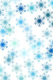 Pattern with snow Stock Image